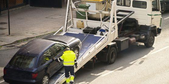 Towing truck car wrecker