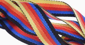 Rainbow tie down strap