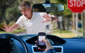 Accident due to distracted driver.