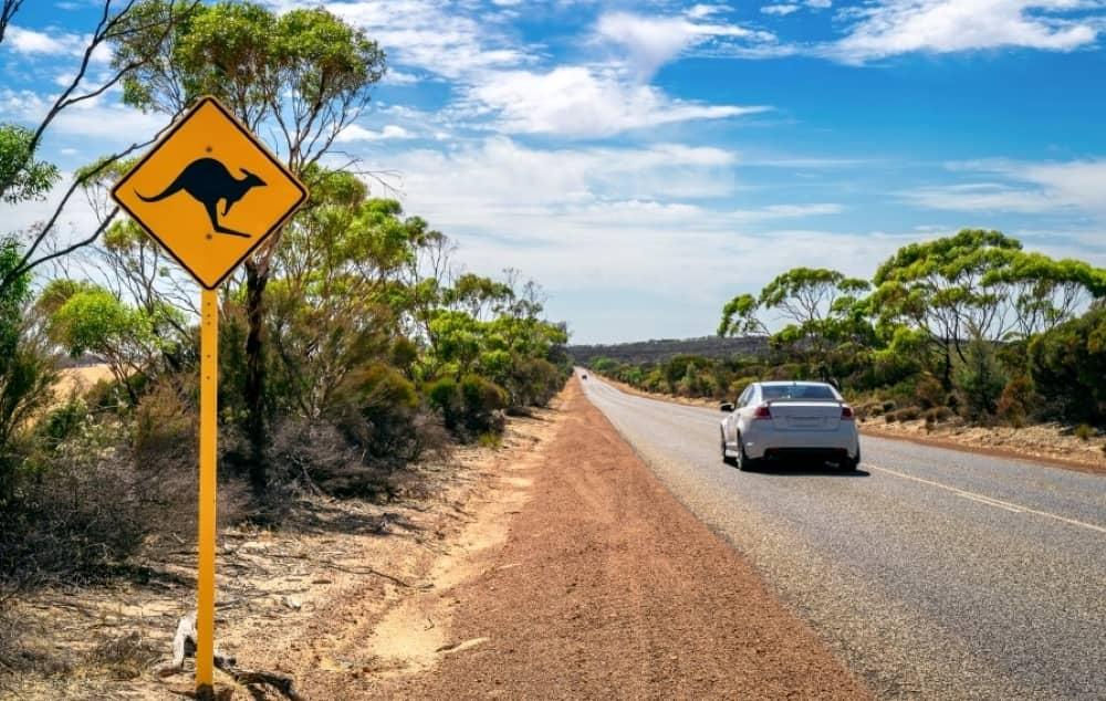 Australian outback road side sign.