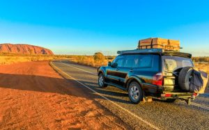 SUV outback road trip.